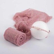Милые аксессуары для фотографирования новорожденных; Комплект для фотосъемки; одеяло и повязка на голову; мягкая детская накидка; пеленка для фотосессии; 40x150 см