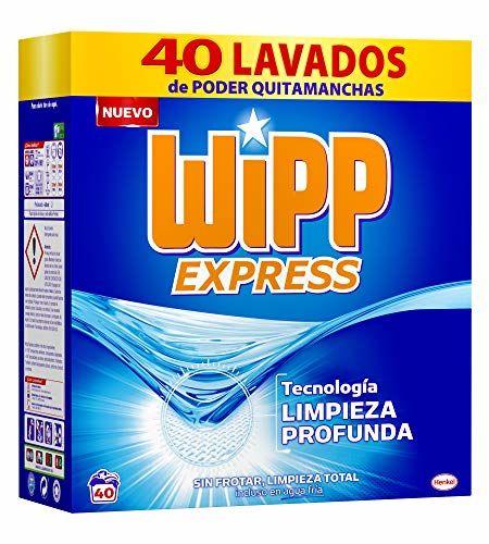 WiPP Express Detergente Polvo, 40 Dosis, Pack De 1