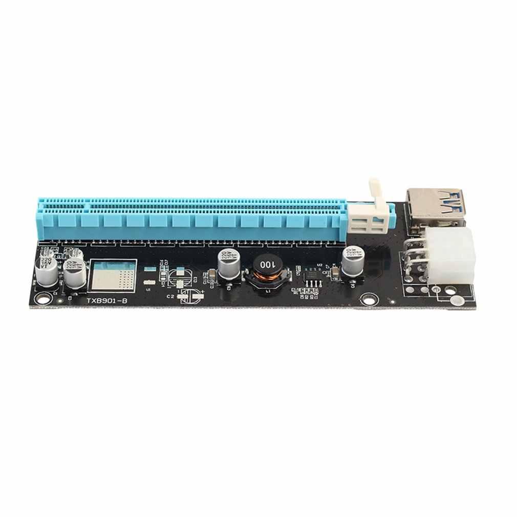 Mini Pci-E Express Pci-E Riser Card 1x Naar 16x Met Sata 6pin Kabel Usb 3.0 Riser Voor Bitcoin Miner Btc machine