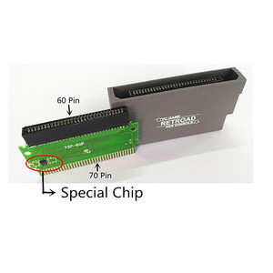 Image 5 - For FC To NES 60 Pin To 72 Pin Adapter Converter  For NES clone Console System