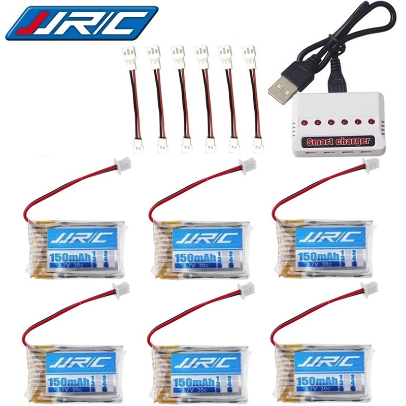 Original JJRC H20 battery 3.7V 150mAh For JJRC H20 Syma S8 M67 U839 RC Quadcopter Parts 3.7V Lipo Battery + 6-hole 3.7v charger