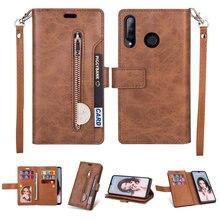 Luxus Zipper Flip Fall Solide Leder für Funda Ehre 20 s Fall Huawei Honor 20 S Telefon Fall Karte Slot ehre 20 S Brieftasche Abdeckung
