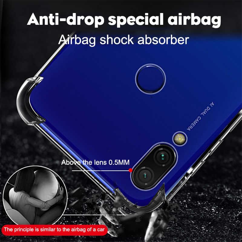 Cao cấp Chống Sốc Dẻo Silicone Ốp Lưng Điện thoại Tiểu mi Đỏ Mi Note 8 7 5 Pro Đỏ MI 7A Tiểu Mi mi 9t 9 A3 Trong Suốt Chống
