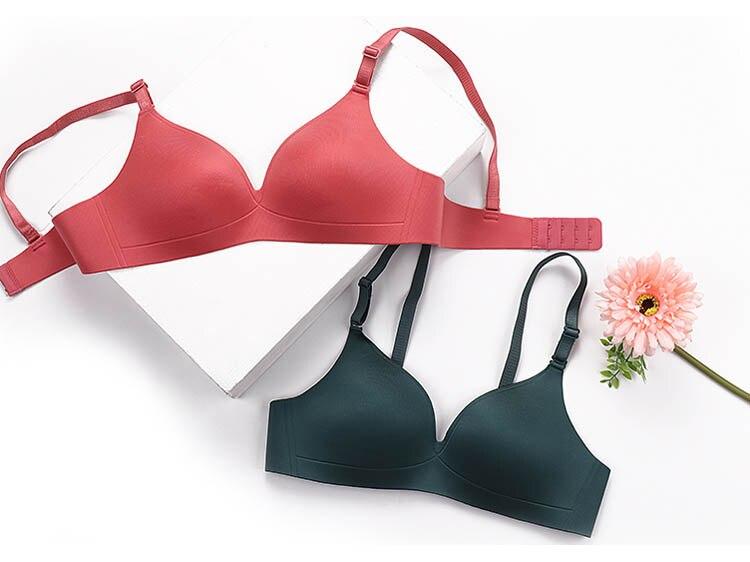 CINOON Sexy Gather Bras For Women Push Up Lingerie Seamless Bra Bralette Wireless Brassiere Female Underwear Intimates (12)