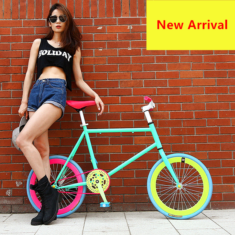 New Brand Fixed Bike 20 Inch Wheel 50 Cm Frame Rear Pedal Brake Mini Bicycle Outdoor Sport BMX Bicicleta
