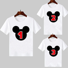 Harajuku cute Baby boys Girls clothes Happy Birthday Mouse Number 1~9th print T-shirt Kids Clothing Christmas Black Friday Gift
