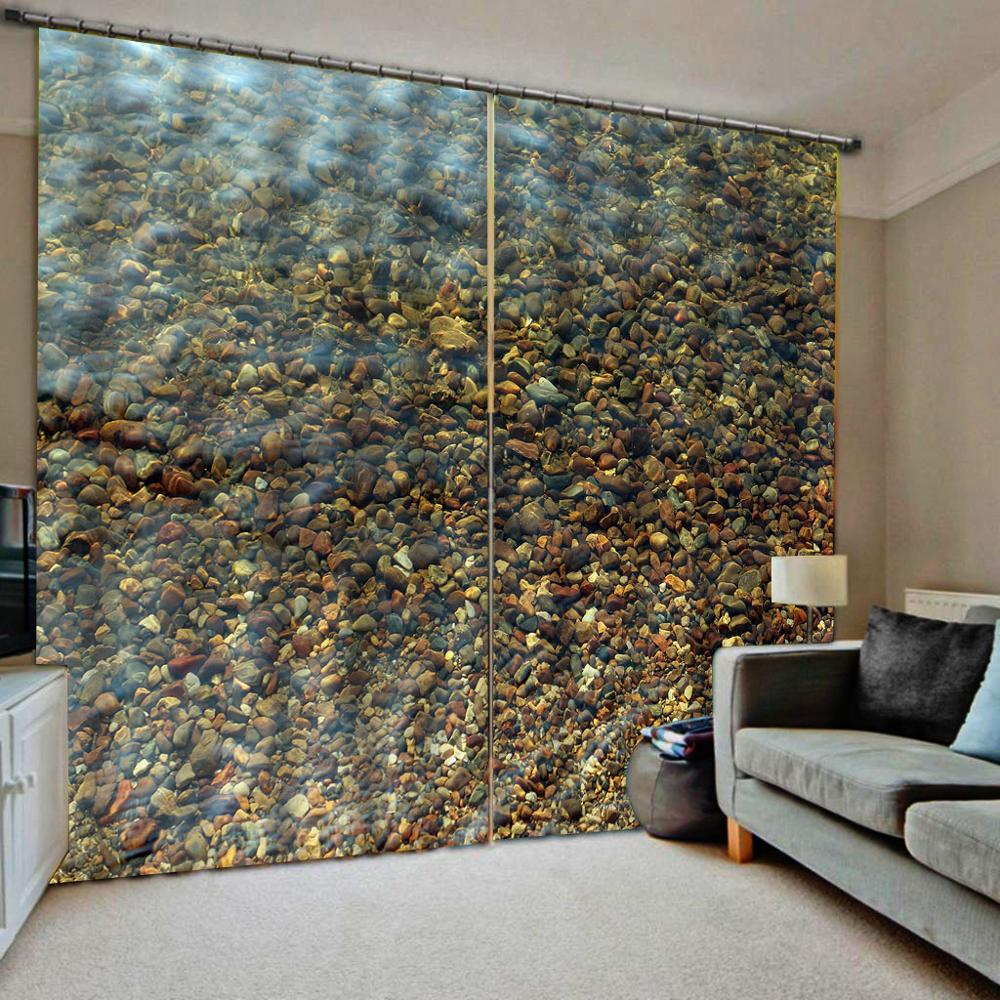 High Quality Custom 3d Curtain Fabric  Liver Stone Curtains For Bedroom Living Room Blackout Curtains