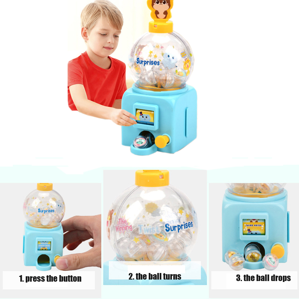 Mini Lottery Machine Rocker Rolling Children Toy Machinery  Manual Drink Toy Machine Simulation Board Desktop Puzzle Games Toys