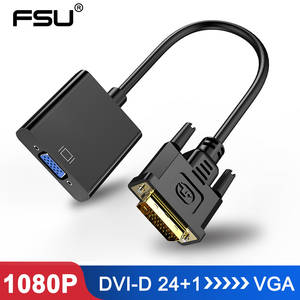 Adapter Monitor Display-Card DVI-D 25pin-To-15pin-Cable-Converter VGA for 24--1 1080P