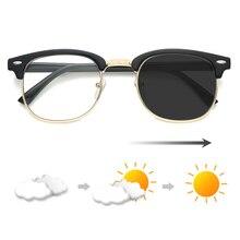 Photochromic Sunglasses Round Anti Blue Light