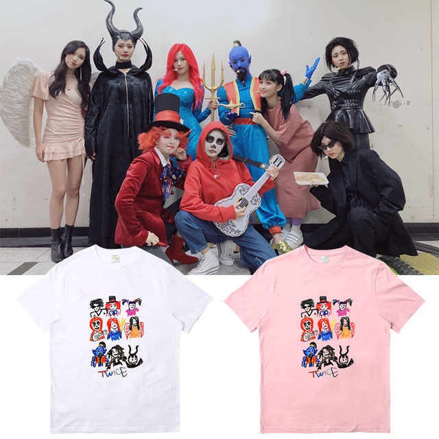 Kpop Twice 2019 Concert TWICE LIGHTS Breakthrough T-shirt Unisex Tops Casual Tee