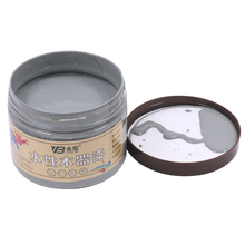 250g Medium Gray Water-based Woodwork Paint Water-proof & Mildew-proof Lacquer for Wood,Fabric,Paper,Canvas,Hand-painted