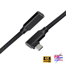 100W PD 5A Curved USB3.1 Type-C Extension Cable 4K @60Hz 10Gbps USB-C Gen 2 Extender Cord For Macbook Pro Dell Nintendo ASUS HP