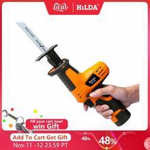 Hilda 12vコードレス往復鋸木材切断のこぎり電動のこぎり鋸刃木工カッター