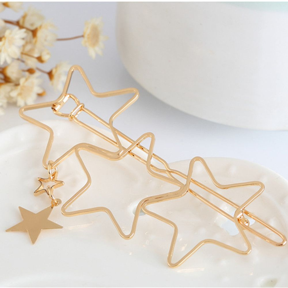 2pcs Fashion Women Girls Ladies Girls Popular Hollow Star Tassel Hairpin Clips Hair Accessories Ladies Hairpins