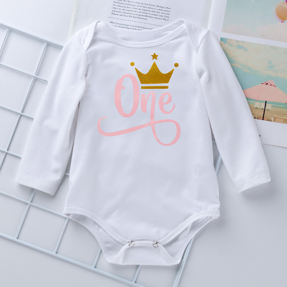Baby Girl Clothes Sets Little Girl One Year Clothing Infant First Birthday Outfits Newborn Toddler Girl Christening Party Wear 2