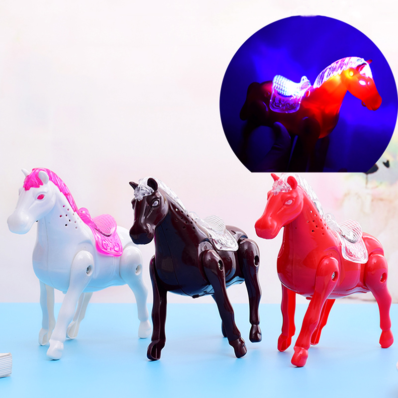 Kids Musical Walking Horse Electronic Toys Boy Girls Decompression Funny Pet Electronic Pony Toys For Children Christmas Gifts