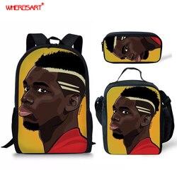 WHEREISART torby szkolne dla dzieci dla Afro chłopców wysokiej jakości plecak dla dzieci w plecaki do szkoły podstawowej Mochila Infantil Zip