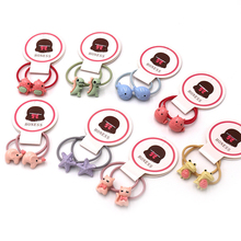 Ponytail-Holder Dinosaur Hair-Tie-Rope Scrunchies Elastic-Hair-Bands Baby-Accessories