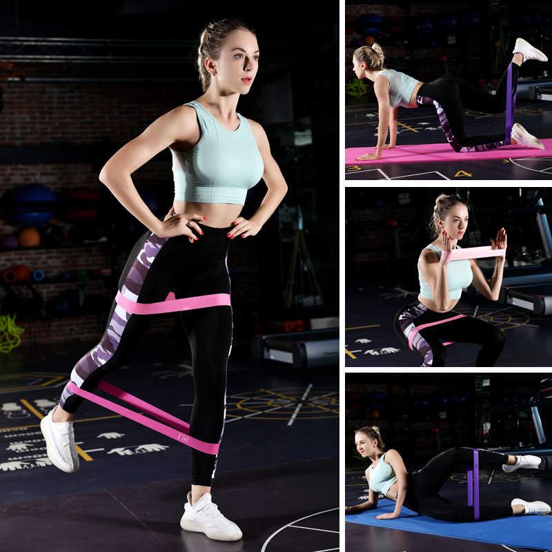 Taśmy oporowe siłownia trening gumy ciągnąć linę 0.35mm-1.1mm Pilates Sport gumy gumy do fitnessu Crossfit sprzęt treningowy