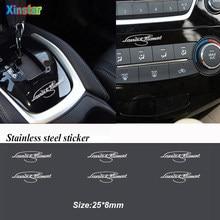 5 шт., автомобильные наклейки из нержавеющей стали для Skoda MK2 Kamiq Fabia Rapid Yaris Kodiaq Octavia Superb Scala Karoq