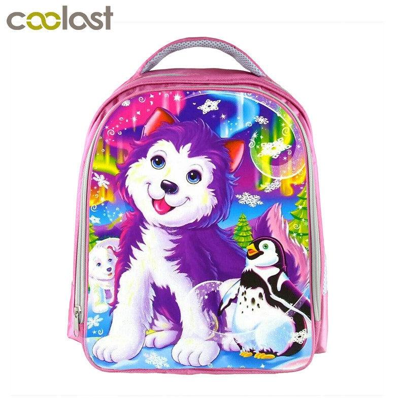 Customized Your Image logo Name Children School Bags For Girls 13 Inch Cartoon School Backpack Pink Kindergarten Bag