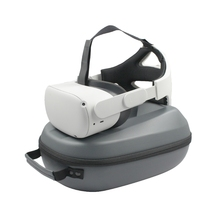 2in1 PUกระเป๋า & ปรับสายคล้องคอที่สะดวกสบายสำหรับOculus Quest 2 VRพกพาป้องกันอุปกรณ์เสริม