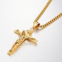 Религиозное ожерелье с подвеской из искусственной кожи золотая
