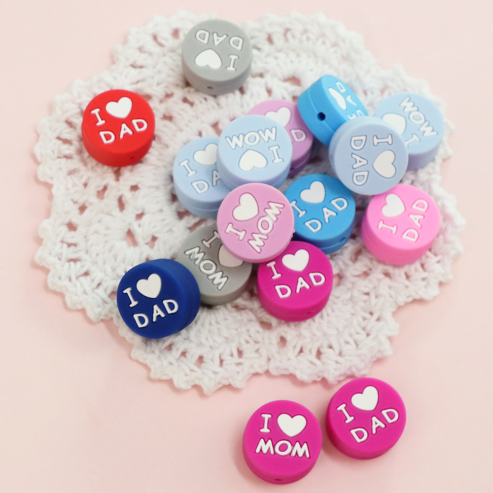 NEW ARRIVAL 3pcs Cute Baby Teething Beads Cartoon Silicone Beads For Necklaces BPA Free Pacifier Chain Accessories Nursing DIY