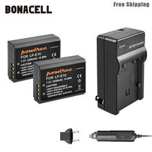 Bonacell 2200 мА/ч, LP-E10 LP E10 LPE10 Камера Батарея+ Зарядное устройство для Canon 1100D 1200D 1300D Rebel T3 T5 поцелуй X50 X70 Батарея L50