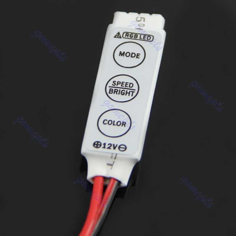 LED 3 klawisze pilot bezprzewodowy na podczerwień do pasków SMD 3528 5050 RGB nowość