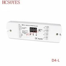 D4 L DC12V 36V 4 チャンネル 4CH pwm定電圧/定電流dmxデコーダDMX512 ledコントローラーrgb rgbw ledストリップ