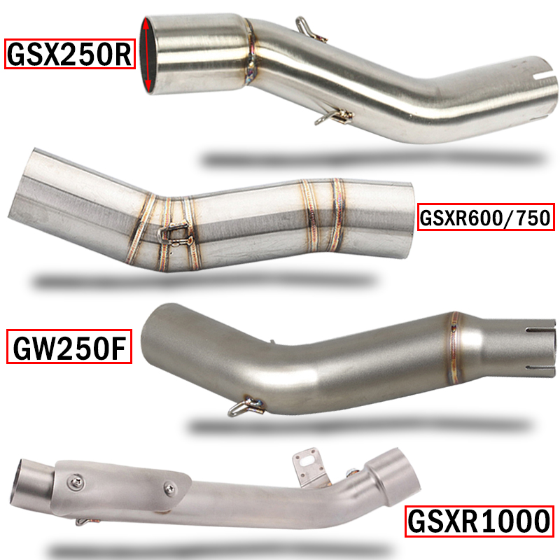 <font><b>GSX250R</b></font> GW250F GSXR600/750 GSXR1000 K6 K7 K8 K9 K11 motorcycle <font><b>exhaust</b></font> muffler middle link pipe steel 51mm connect adapter pipe image