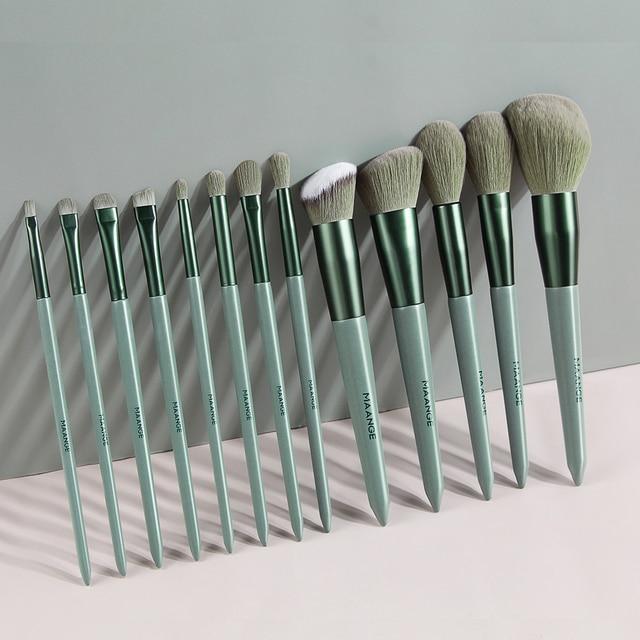 MAANGE Pro 4/13Pcs Makeup Brushes Set  Face Eye Shadow Foundation Powder Eyeliner Eyelash Lip Make Up Brush Beauty Tool with Bag 3