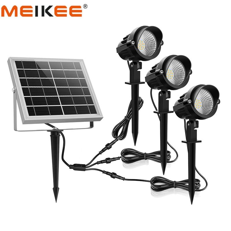 3 en 1 lumière solaire extérieure de LED IP66 imperméabilisent la lumière d'inondation extérieure de lampe de LED à alimentation solaire pour la pelouse de paysage de Patio de jardin