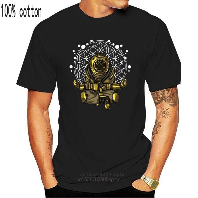 Diver Йога Будды духовная медитация цветок жизни футболка мужской Harajuku футболка с круглым вырезом большого Размеры Homme футболка|Футболки| | АлиЭкспресс