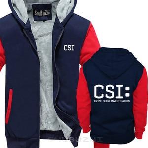 Image 4 - TV crime scene investigation police forensic CSI warm coat Fashion Brand thick jacket men new DIY high quality sbz5225