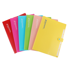 A4 cute 10 color file folder document bag pouch bill organizer fastener school office supplies binder