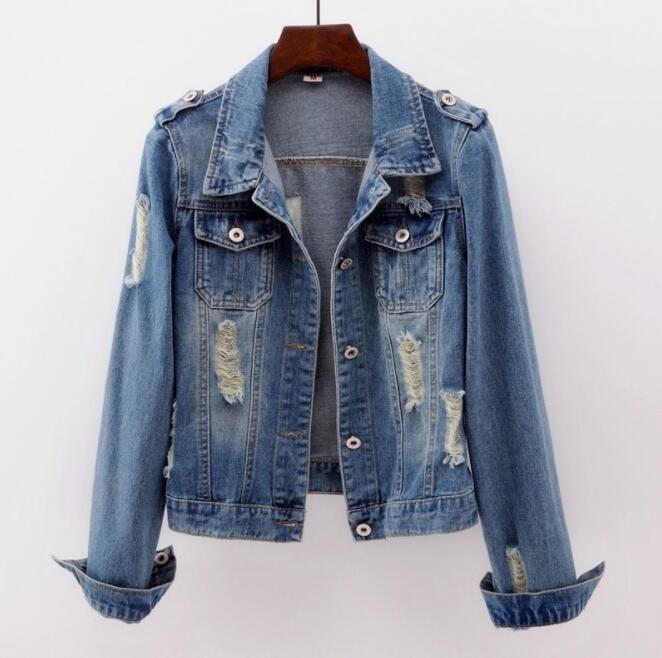 Large size 5XL denim   jacket   ladies   jacket   street clothing Harajuku retro autumn   basic     jacket   2019 fashion new
