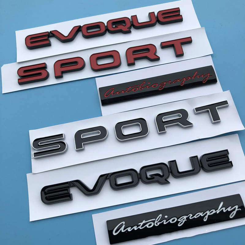 Auto Black red SPORT for Range Rover Rear Boot Tailgate Emblem Badge Sticker
