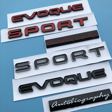 Sportowy evoque Letters emblemat Bar Logo dla Land Range Rover SV autobiografia ULTIMATE Edition Bar odznaka Car Styling naklejka na bagażnik tanie tanio Land Rover 2inch Emblematy top quality ABS 0 4inch 16 3inch Emblems glossy black red chrome silver