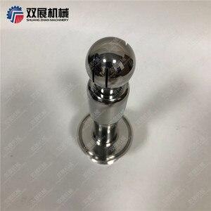Image 2 - Dreh CIP Spray Ball 1,5 zoll (50,5mm) tri Clover Kompatibel Einlass geschweißte in 2 zoll (64mm) Tri Clover Kompatibel Tri Clamp Kappe