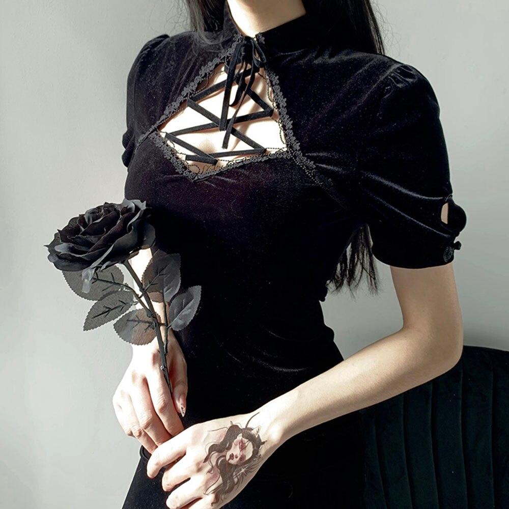 mulheres sexy vestido 2021 gotico vintage veludo 01