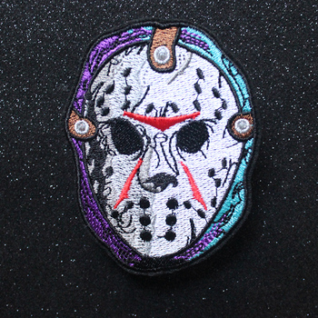 Nicediy Friday The 13th Embroidered Iron On Patches For Clothes Backpack Hat Hippie Murderer Killer Applique Stickers Badges DIY image