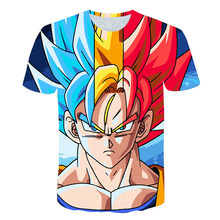 Dragon-ball vegeta t-shirts 2021 verão meninos tshirts crianças roupas 3d impressão japão anime camisas meninas camisetas topos crianças roupas