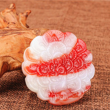 Natural Red White Jade Peacock Pendant Necklace Chinese Hand-Carved Charm Jewelry Fashion Accessories Amulet for Men Women Gifts natural red stone hand carved pendants red jade sweater chain buddha pendant chinese style necklace jewelry collection of gifts