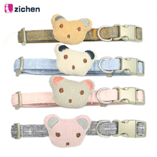 Get more info on the Zichen Pet Cat Collar Dog Collar Adjustable Bear Nylon Durable Small Dog Cat Necklace For Small Medium Dog Collar 5 Color S M