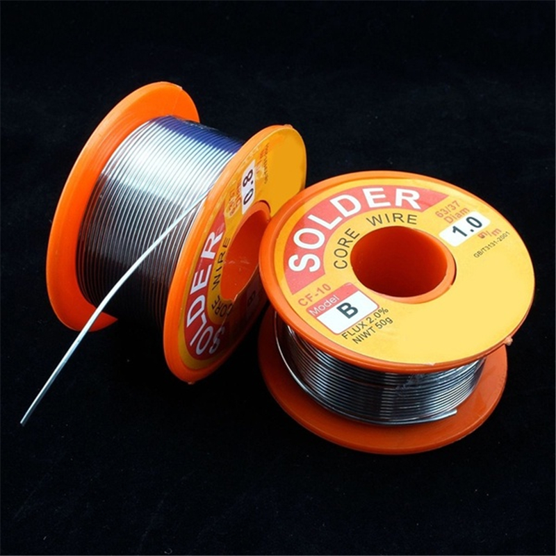 <font><b>Solder</b></font> Wire 50g 0.3/0.4/0.5/0.6/0.8/1.0mm Diam <font><b>60</b></font>/<font><b>40</b></font> 63/37 Clean Rosin Core <font><b>Solder</b></font> 63/37 Tin Lead Line Welding Iron Wire Reel image