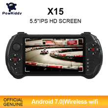 Powkiddy X15 android elde kullanılır oyun konsolu 5.5 inç 1280*720 ekran MTK8163 dört çekirdekli 2G RAM 32G ROM Video el oyun oyuncu