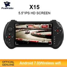 Powkiddy X15 z systemem android przenośna konsola do gier 5.5 cal 1280*720 ekran MTK8163 czterordzeniowy 2G RAM 32G ROM wideo przenośny odtwarzacz gier